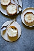 Coconut yogurt & passion fruit tartlets