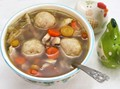 Cold-busting matzo ball soup