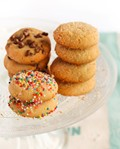 Condensed milk cookies (with chocolate chips, sprinkles or coconut)