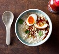 Congee with soy eggs