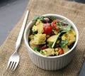 Cornbread and black bean panzanella