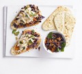Coronation chicken naans with Indian slaw