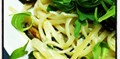 Courgette, lemon & Parmesan linguine with rocket