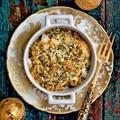 Crab & mushroom gratin