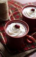 Cranberry cinnamon hot chocolate
