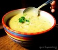 Creamy chicken & brown rice soup (with chicken stock paste)