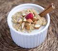 Creamy coconut milk millet pudding