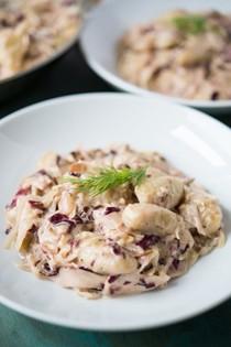 Creamy gnocchi and sauerkraut