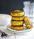 Creamy Greek zucchini patties