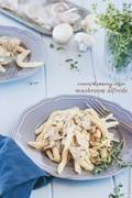 Creamy mushroom vegan Alfredo
