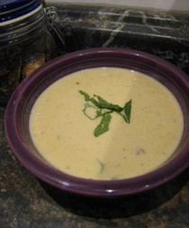 Creamy roast turnip and potatosoup