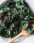 Creamy Swiss chard with coconut