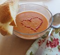 Creamy tomato basil soup