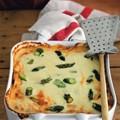 Crêpe lasagne with asparagus and Taleggio (Lasagne di crespelle, con asparagi e Taleggio)