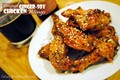 Crisped ginger-soy chicken wings