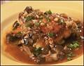 Crusty chicken thighs with mushroom sauce