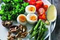 Curried egg and walnut salad