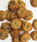 Dark chocolate, pistachio and smoked sea salt cookies
