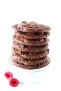 Dark chocolate raspberry cookies