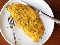 Diner-style ham and cheese omelette for two