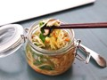 DIY instant noodles with vegetables and miso-sesame broth