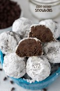 Double chocolate snowball cookies