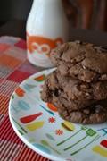 Double dark chocolate coconut pecancookies