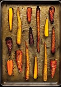 Duck fat roasted carrots