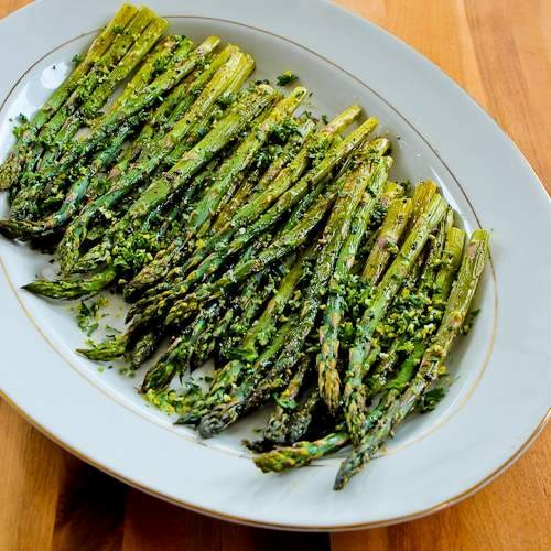 Poached eggs and roasted asparagus on honey whole-wheat toast