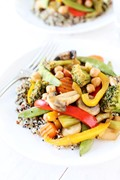 Easy chickpea vegetable stir fry