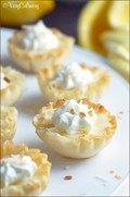 Easy mini lemon tarts with toasted coconut