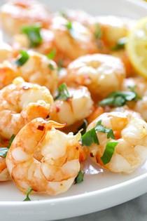Easy roasted lemon-garlic shrimp