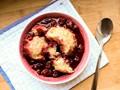 Easy stovetop cherry grunt (Stovetop cobbler)