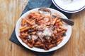 Eggplant and tomato pasta (Pasta alla Norma)