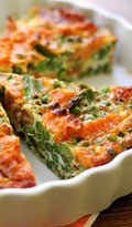 Everything-but-the-kitchen-sink frittata