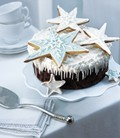 Exotic fruit Christmas cake
