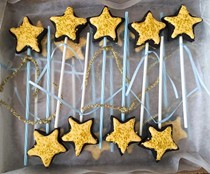 Fairy godmother wand cookies-on-a-stick