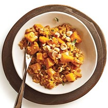 """""""Farrotto"""" with butternut, Gruyère, and hazelnuts"""
