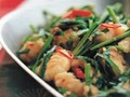 Fisherman's shrimp with Chinese chives