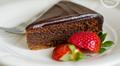 Flourless chocolate almond cake with chocolate ganache