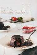 Flourless chocolate fondants