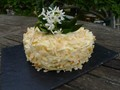 Flourless coconut lemon curd layer cake