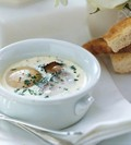 Foie gras and cream eggs