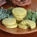 Foraged evergreen shortbread cookies