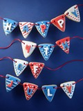 Fourth of July pennant cookies