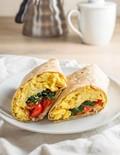 Freezer-friendly spinach feta breakfast wraps