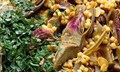 Fregola and artichoke pilaf