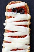 French bread pizza mummies