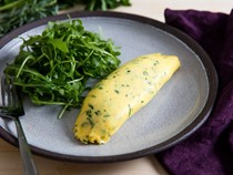 French omelette with fines herbes