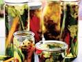 Fresh refrigerator pickles: cauliflower, carrots & cukes